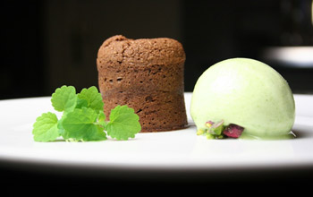 Chocolate with cress